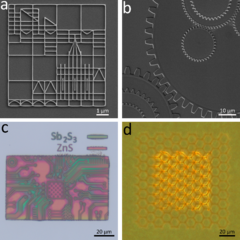 This example shows 2D and 3D semiconductor structures produced by direct patterning. 